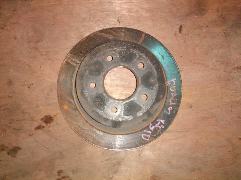 Тормозной диск Nissan Dualis KJ10 MR20 2001 задний левый
