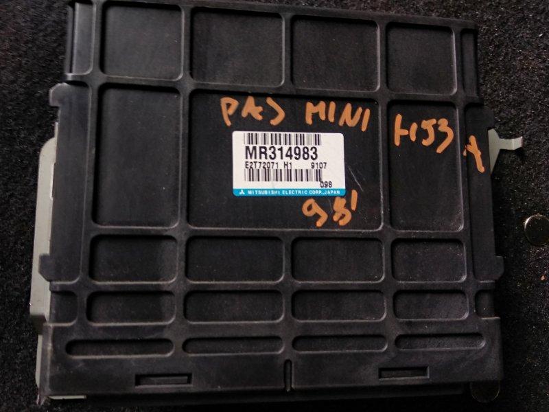 Блок управления efi Mitsubishi Pajero Mini H53A 4A30 1998