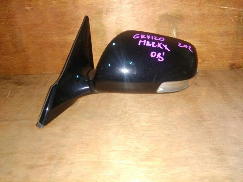 Зеркало Toyota Mark X GRX120 4GR 2008 переднее левое