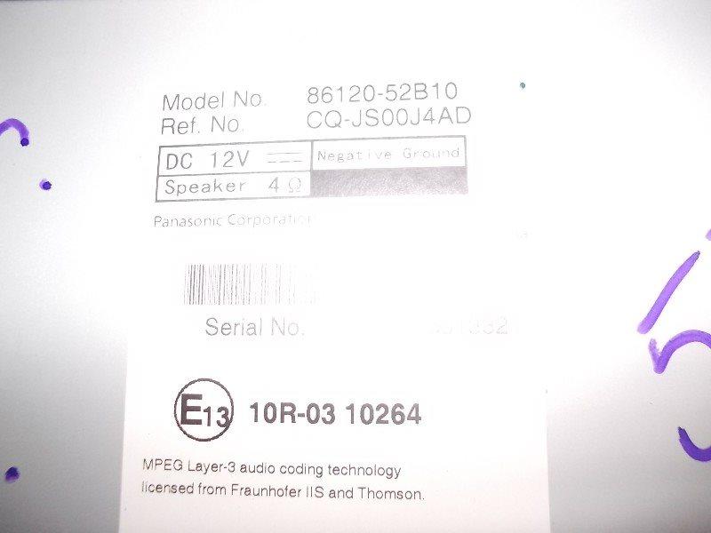 Магнитофон Toyota Belta 10 ст.259000057