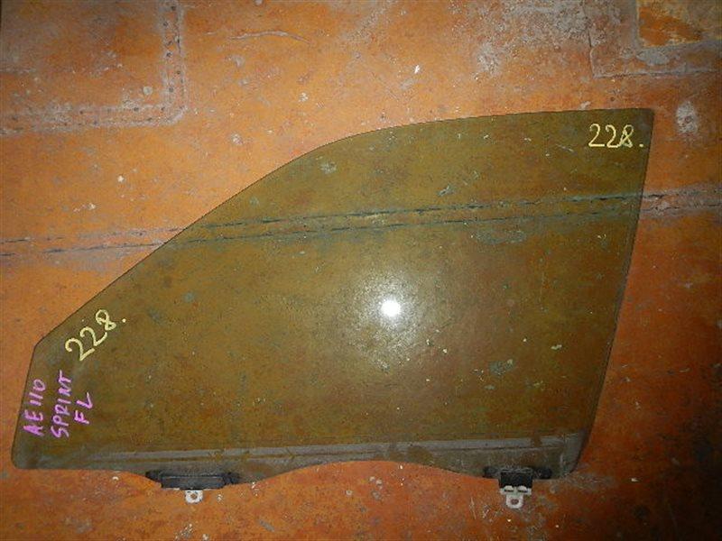 Стекло двери Toyota Sprinter AE110 переднее левое ст.875000228