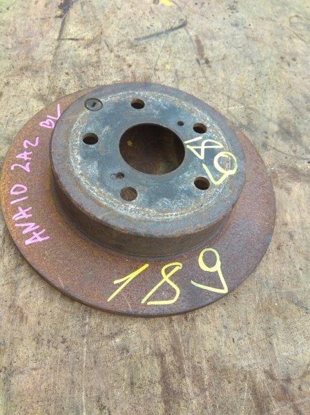 Тормозной диск Toyota Mark X Zio ANA10 2AZ-FE задний левый