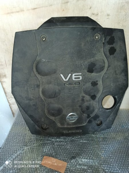 Пластиковая крышка на двс Nissan Stagea NM35 VQ25DET