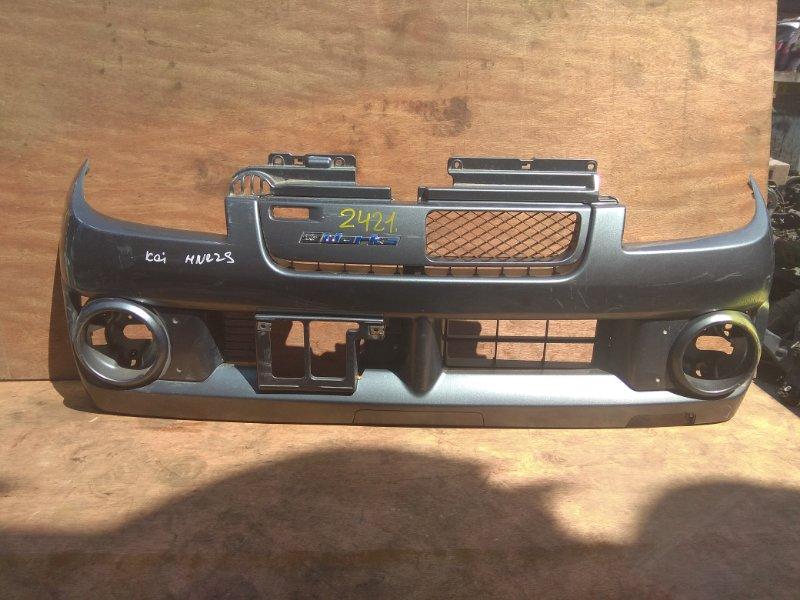 Бампер Suzuki Kei HN22S K6A передний