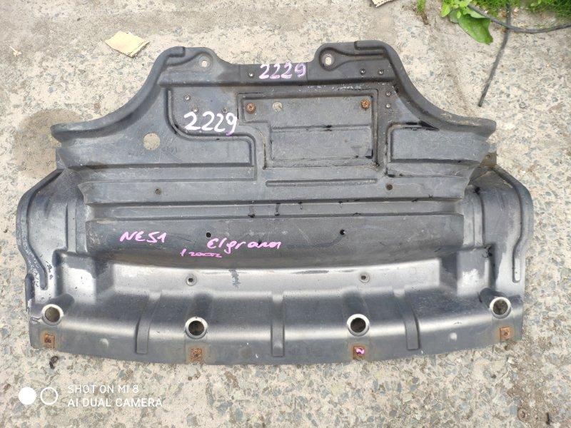 Защита двигателя Nissan Elgrand MNE51 VQ25 передняя