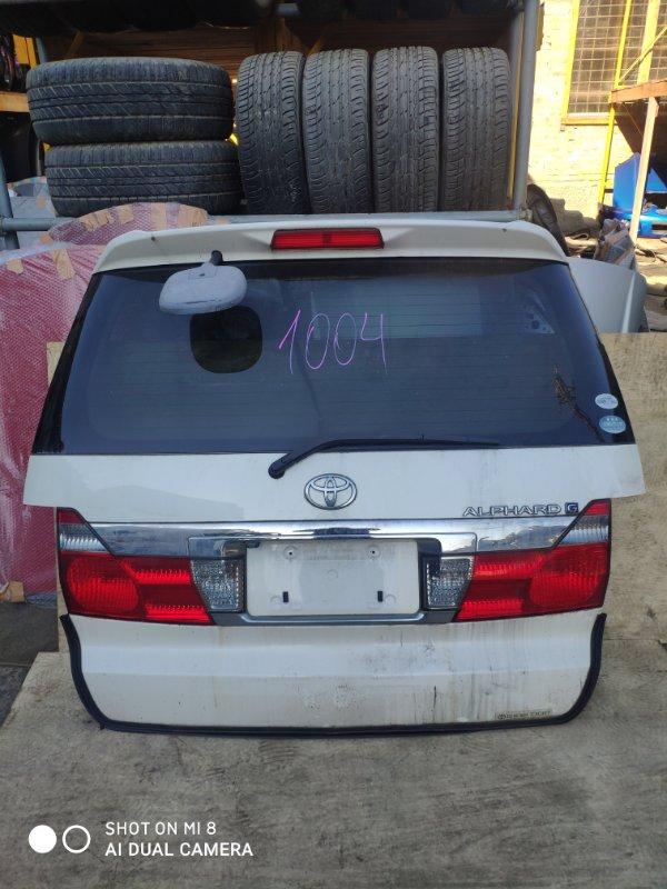 Дверь задняя Toyota Alphard MNH10 1MZ