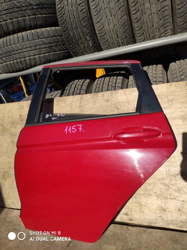 Дверь Honda Fit GP5 LEB задняя левая