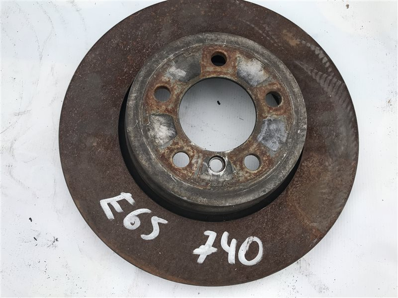 Тормозной диск Bmw 7-Series E65 N62B40A 2007 задний