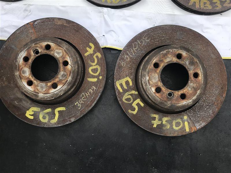 Тормозной диск Bmw 7-Series E65 N62B48B 2007 задний