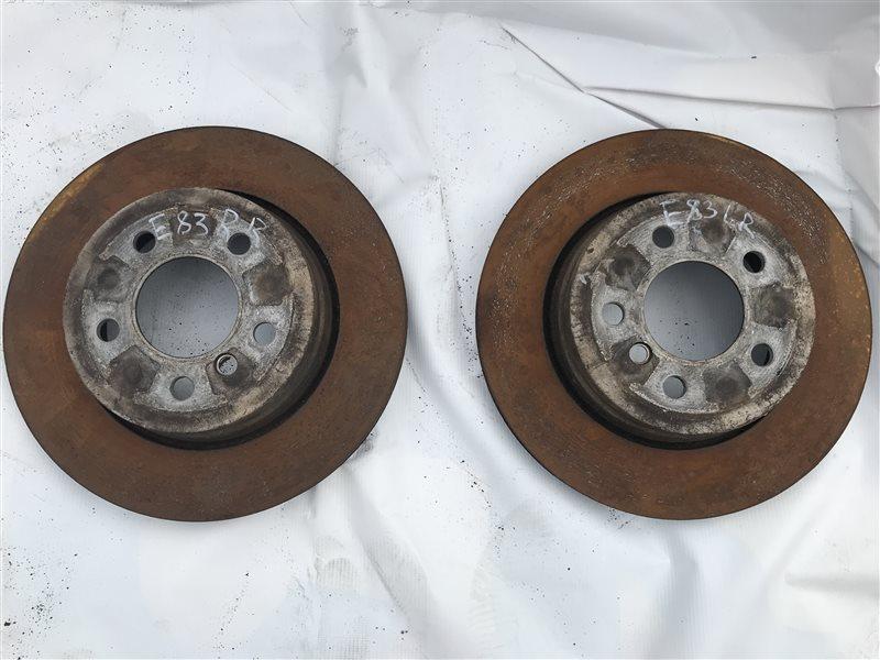 Тормозной диск Bmw X3 E83 M54B25 2005 задний