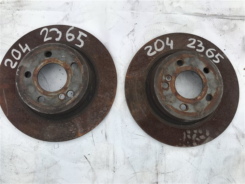 Тормозной диск Mercedes-Benz C-Class W204 W204 271.950 2008 задний