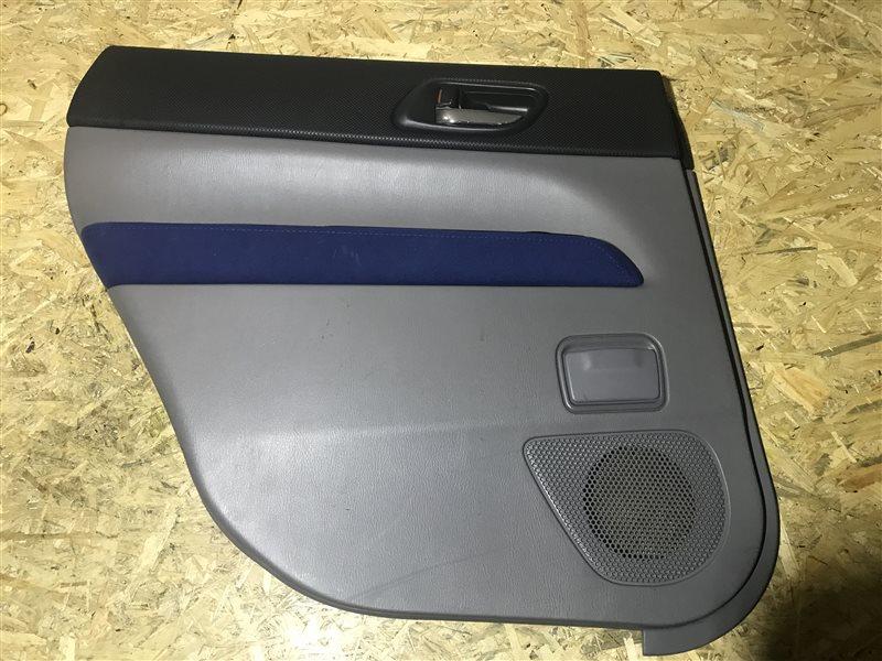 Обшивка двери Subaru Forester SG5 EJ205 2004 задняя левая