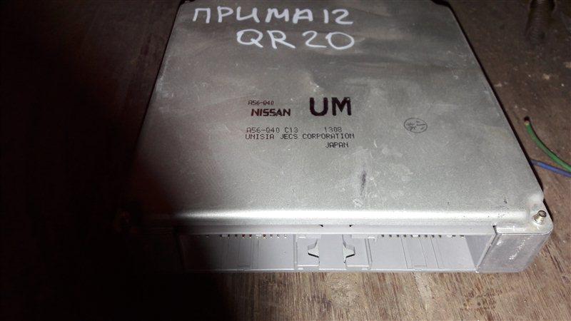 Блок управления двс, бортовой компьютер Nissan Primera TP12, QP12 QR20DE 2003