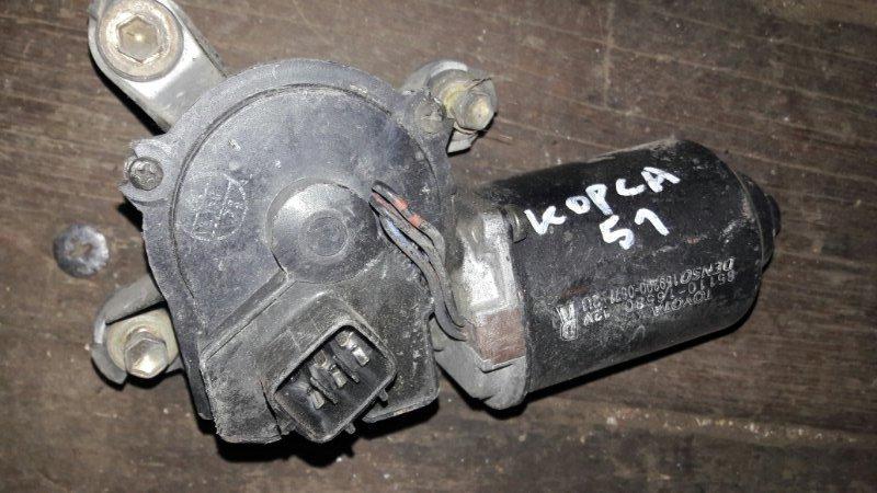 Мотор дворников двигатель стеклоочистителя Toyota Corsa EL51, EL53, EL50 4EFE, 5EFE 1999 передний