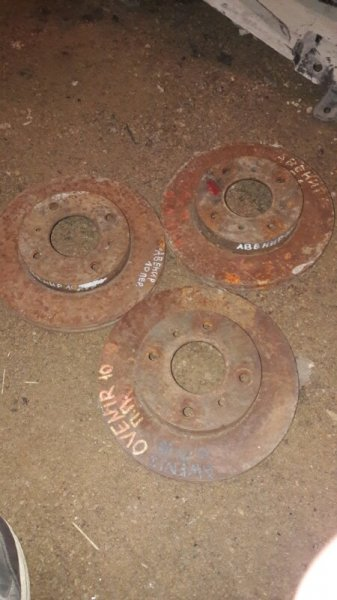Тормозной диск Nissan Avenir W10 1997 передний