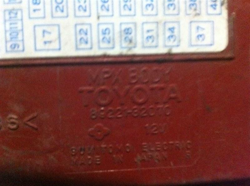 Блок mpx body Toyota