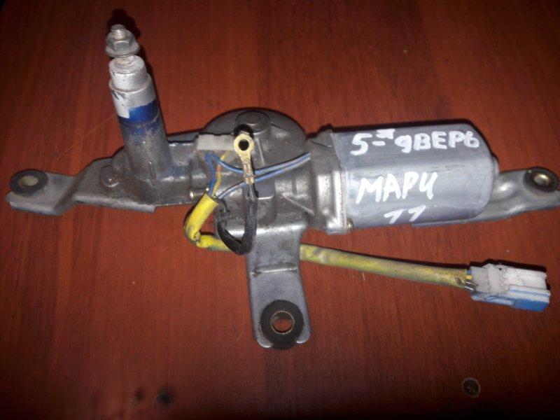 Мотор дворников двигатель стеклоочистителя Nissan March K11 1998 задний