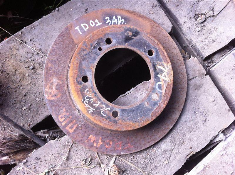 Тормозной диск Suzuki Escudo TD01W задний
