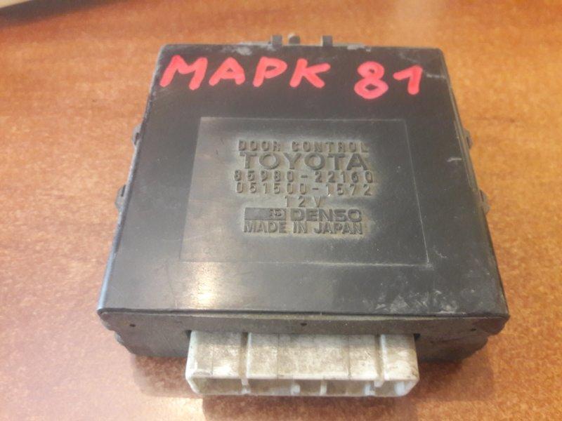 Блок управления дверьми Toyota Mark Ii GX80 GX81 LX80