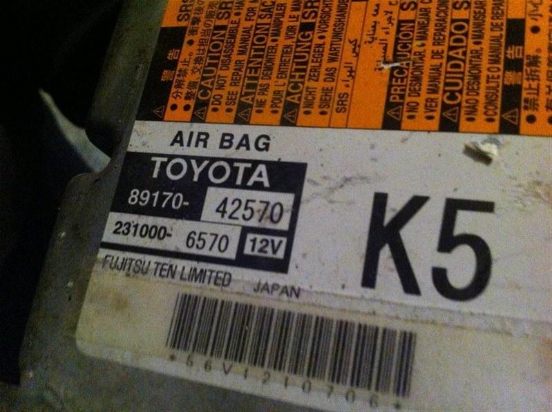Блок управления airbag Toyota Rav4 30 31