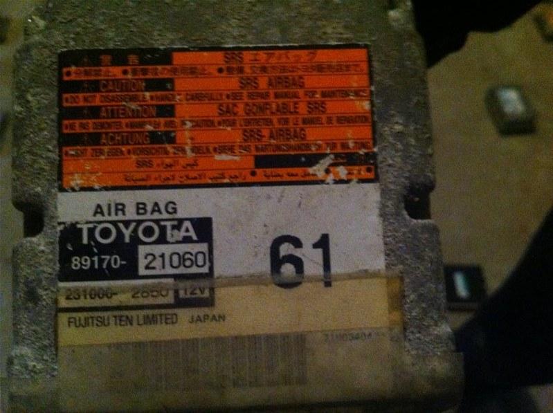 Блок управления airbag Toyota Caldina 240