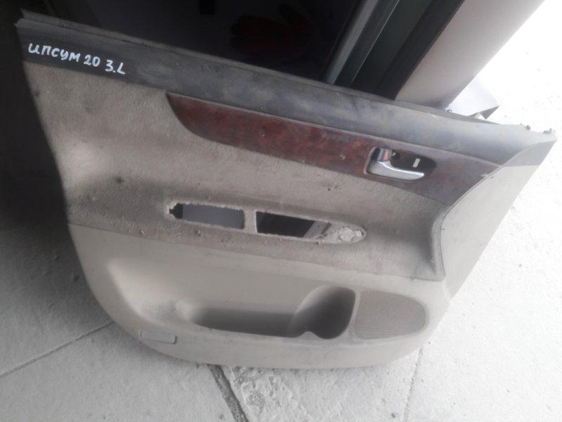 Обшивка двери Toyota Ipsum ACM21, ACM26 2AZFE 2002