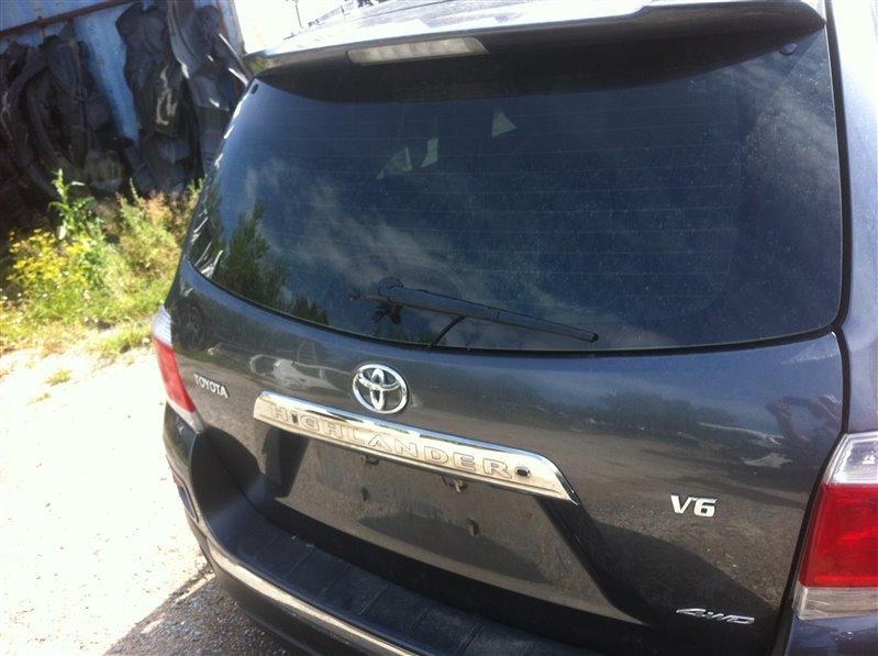 Дверь 5-я дверь багажника Toyota Highlander GSU45. GSU40 2GR 2012
