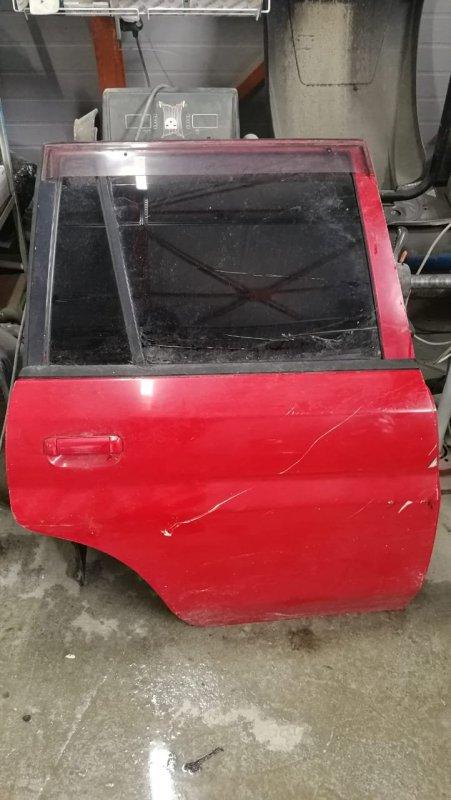 Дверь Mazda Demio DW3W B3 2001 задняя правая