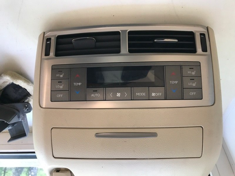 Блок управления климат-контролем Lexus Lx570 200 3UR 2012 задний