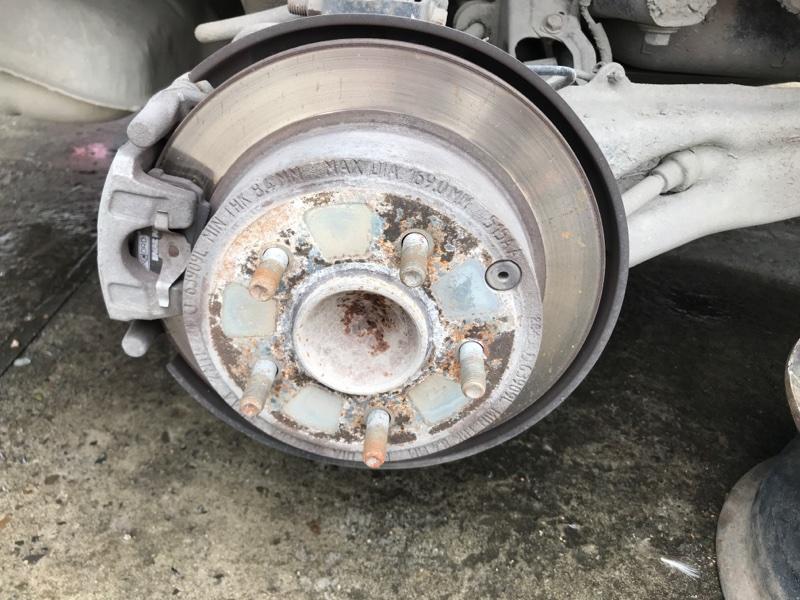 Тормозной диск Dodge Caliber PM ECN 2012 задний правый