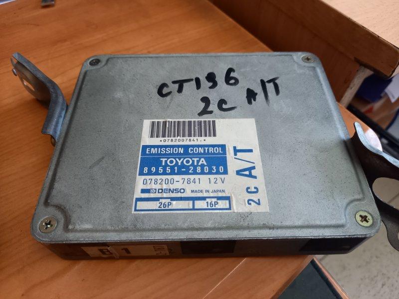Блок управления двс, бортовой компьютер Toyota Caldina CT196 2C 1996