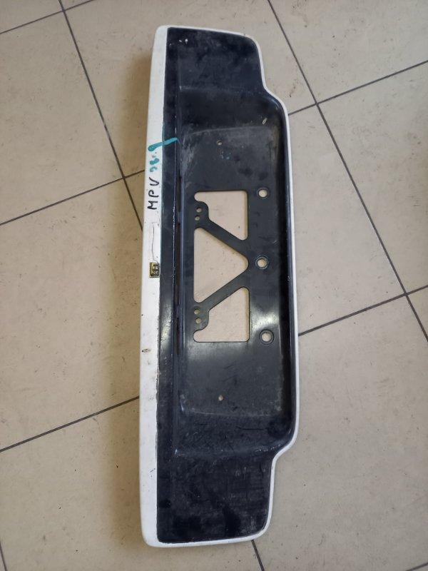 Рамка подсветки крепления номера накладка крышки багажника Mazda Mpv LVEW, LVLR, LVLW