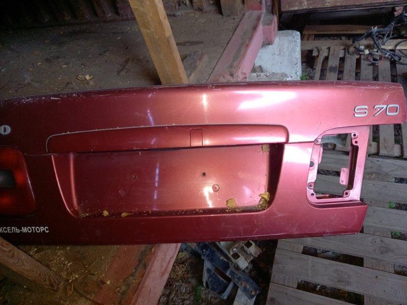 Рамка подсветки крепления номера накладка крышки багажника Volvo S70 1997
