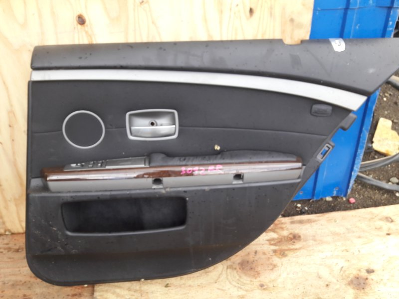 Обшивка двери Bmw 7-Series E65 N62B44A 2003 задняя правая