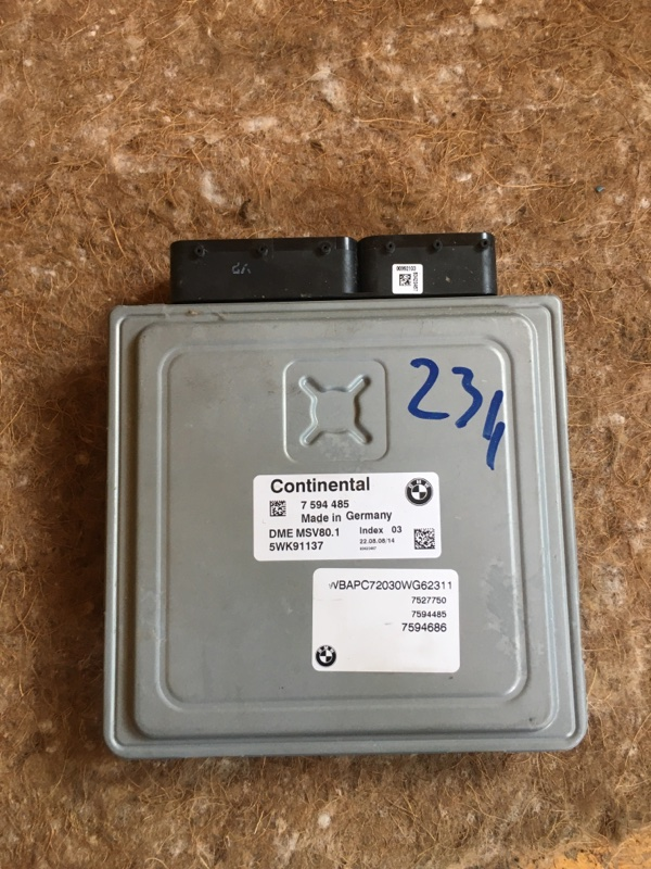 Блок управления двигателем Bmw X3 E83 N52B25 2008