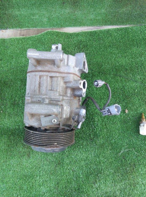 Компрессор кондиционера Toyota Crown GRS210-AETXH 4GRFSE 2500CC 24-VALVE DOHC EFI 12.2012