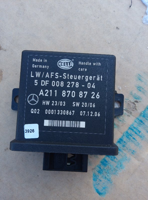 Блок управления наклона фар Mercedes Benz 164.186 Ml 350 4Matic W164.186 M272E35 2007