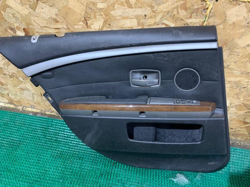 Обшивка двери Bmw 7-Series E65 N62B44A 2004 задняя левая
