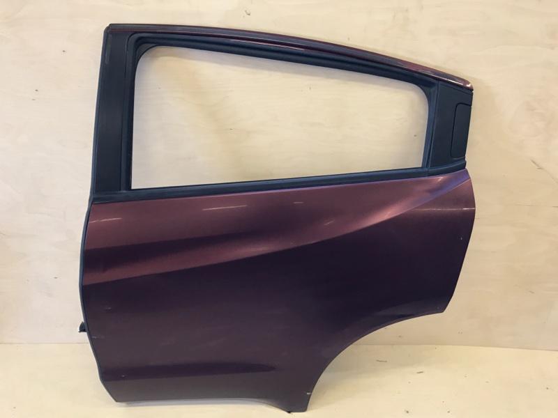 Дверь Honda Vezel RU1 L15B 2014 задняя левая