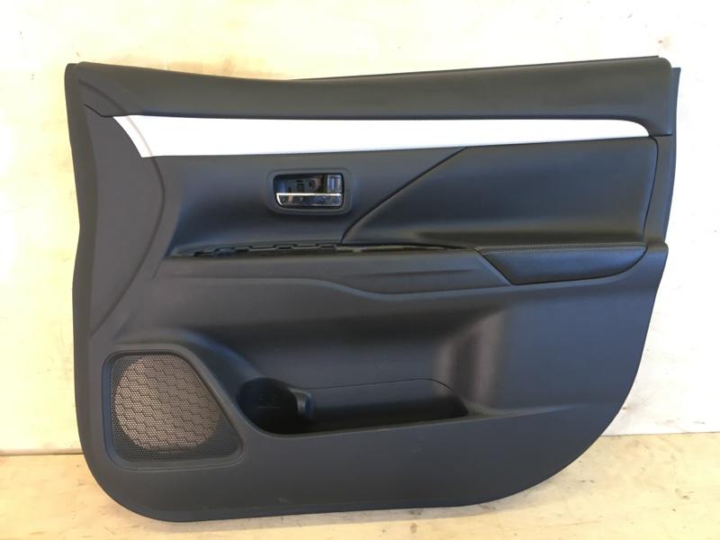 Обшивка двери Mitsubishi Outlander Phev GG2W 4B11-S61-Y61 2014 передняя правая