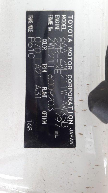 Автомобиль TOYOTA COROLLA TOUARING ZWE211W 2ZR-FXE 2019 года в разбор