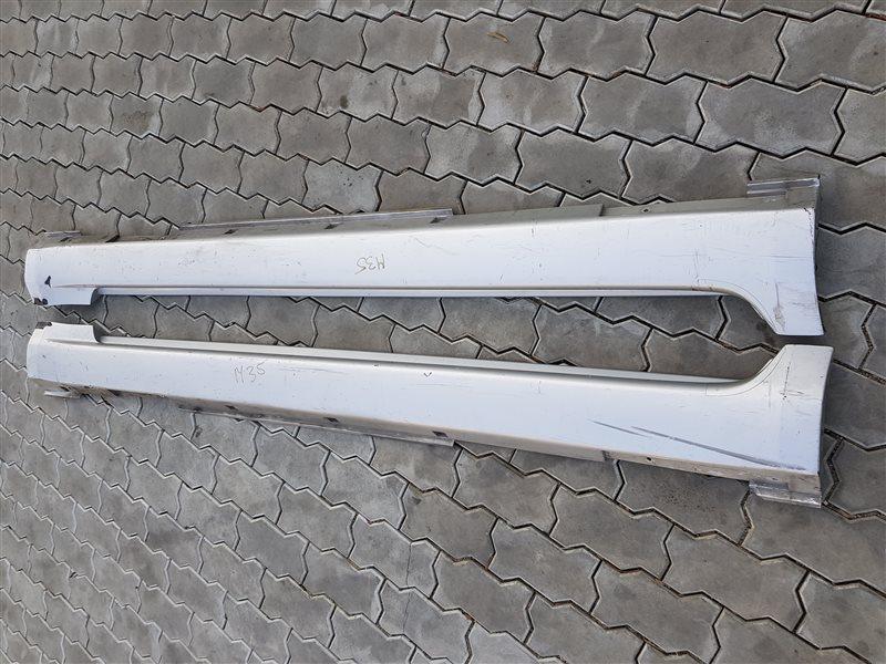 Накладка на порог Infiniti M35 Y50 2007 левая (б/у)