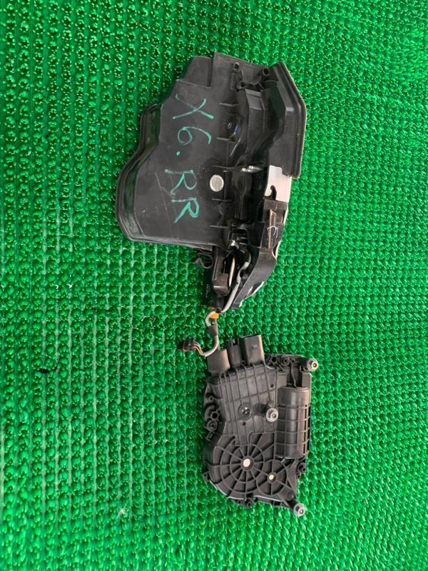 Замок двери Bmw X6 E71 N62B48 2007 задний правый (б/у)
