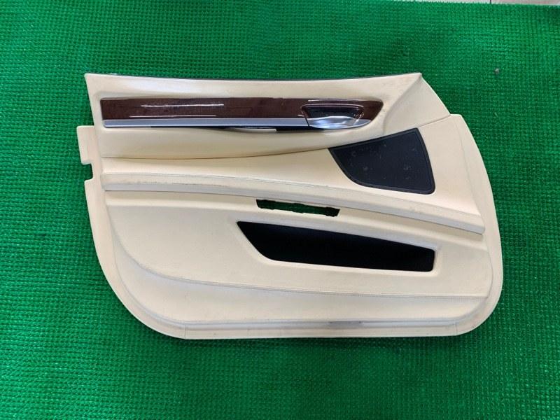 Обшивка двери Bmw 7-Series F01 N63B44 2008 передняя левая (б/у)