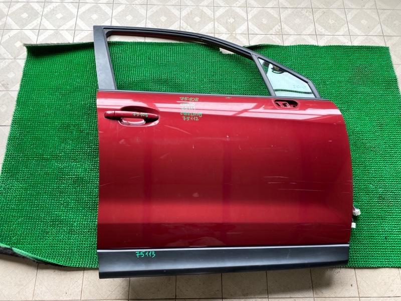 Молдинг стекла двери Subaru Forester SJ5 FB25 2013 передний правый (б/у)