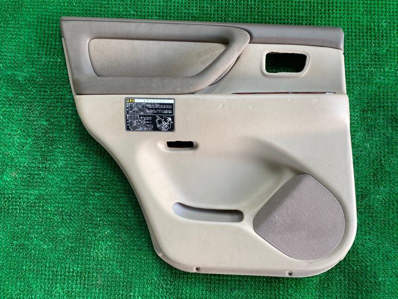 Обшивка двери Toyota Land Cruiser UZJ100 2UZFE 1998 задняя левая (б/у)