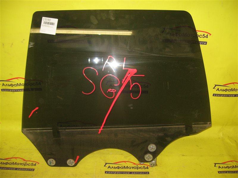 Стекло двери Subaru Forester SG5 EJ20 2003 заднее левое