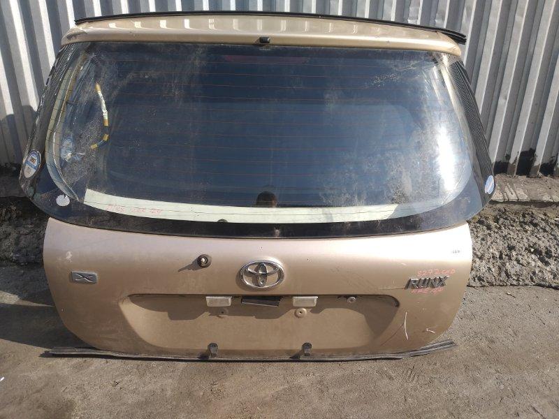 Дверь 5-я Toyota Corolla Runx NZE121 1NZ-FE 2003