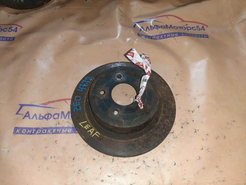 Тормозной диск Nissan Leaf ZEO EM57 2013 задний