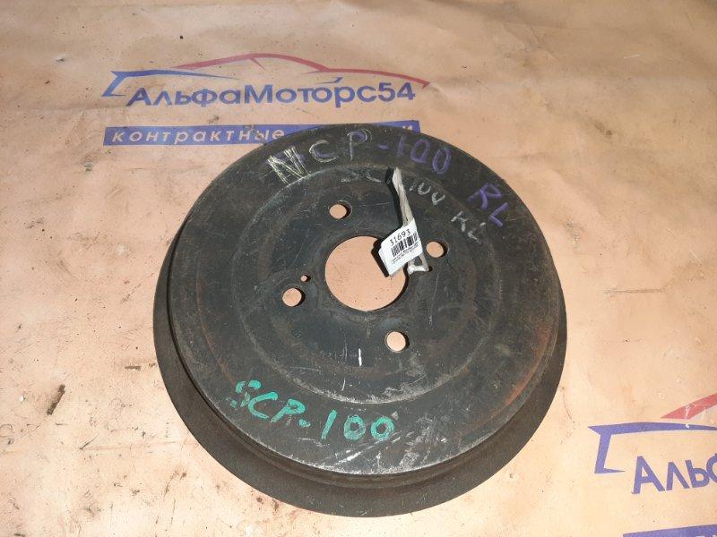 Тормозной барабан Toyota Ractis SCP100 2SZ-FE 2009 задний левый